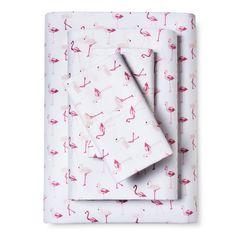 Whimsical Flamingo Print Sheet Set (Full) Pink - Elite Home