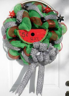 Summertime Wreath created by Rita Skidmore...visit her Facebook Page - Wreaths by Rita for more great designs