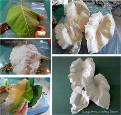 Artesanato com gesso/moldes artesanato/folhas