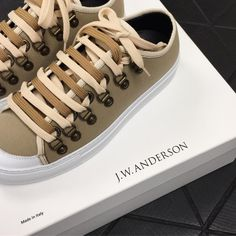 """180 Likes, 3 Comments - TOM GREYHOUND PARIS (@tomgreyhoundparis) on Instagram: """"J.W.Anderson's not so classic canvas trainers are perfect for this Spring 💛 #tomgreyhoundparis…"""""""
