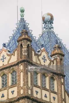 Photo : Detail of Art. Noveau Geological Institute building, Budapest, Hungary
