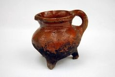 A cooking pot, or pipkin, with three legs, from the fifteenth century