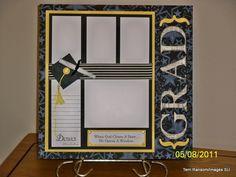 Grad scrapbook/or card idea  nice!!
