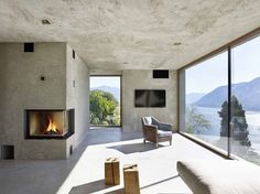 Casas - Houses - House in Brissago / Wespi de Meuron Romeo architects Contemporary Architecture, Interior Architecture, Chinese Architecture, Futuristic Architecture, Outdoor Spaces, Indoor Outdoor, Concrete Interiors, Concrete Houses, Architect House