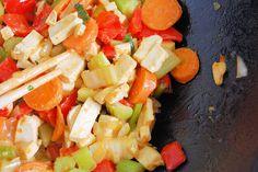 wok-sauteed tofu and vegetables.