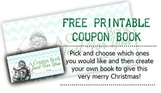 Sweetly Scrapped: Free Printable Coupon Book