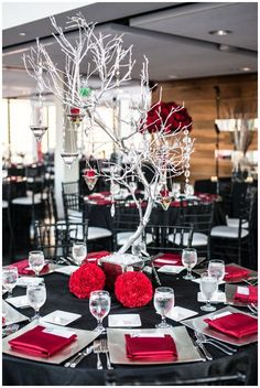 12 Striking Red Wedding Reception Ideas. To see more: http://www.modwedding.com/2013/12/31/12-striking-red-wedding-reception-ideas/ #wedding #weddings #weddingflower
