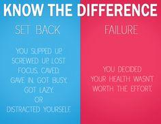 set back vs. failure