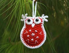 Looking for your next project? You're going to love Owl Christmas Ornament by designer oleksiakj3312856. - via @Craftsy