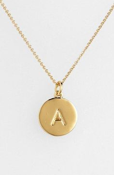 Kate Spade Monogram Pendant Necklace #valentinesday