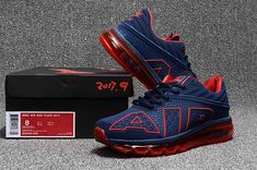promo code f4b1e c62e2 Nike Air Max Flair Large AIR Design Shoes Navy Red For Men Nike Shoes 2017,