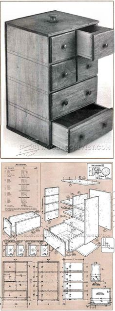 Shaker Sewing Box Plans - Woodworking Plans and Projects | WoodArchivist.com