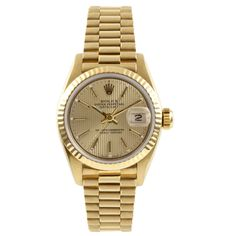 Refurbished Pre-Owned Rolex Women's President Yellow Automatic Watch