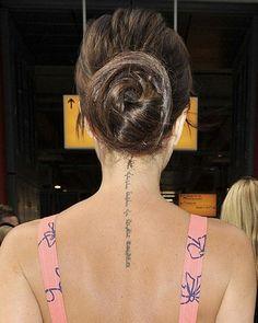 """Victoria Beckham's Hebrew tattoo; """"I am my beloved's and my beloved is mine..."""""""