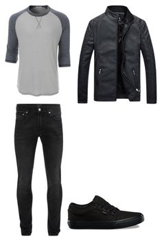 """""""#64"""" by cecilie-monica-nrskov-pedersen on Polyvore featuring LE3NO, Alexander McQueen, Vans, men's fashion and menswear"""