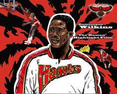 NBA Greats - Dominique Wilkins by Lannytorres