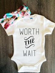 Baby Girl, Newborn, Infant, Toddler, Children's, Organic, Bodysuit, Onesie®, Onsie®, Onezie®, Tee, Layette, Headband, Top Knot, Head Wrap, Turban, Set, Combo