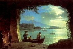 Вид на Везувий 1820-е. Silvester Shedrin