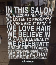 In this Salon we love hair! More