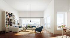 interiør med store vinduer - Google-søk Bean Bag Chair, Divider, Room, Furniture, Home Decor, Bedroom, Decoration Home, Room Decor, Beanbag Chair