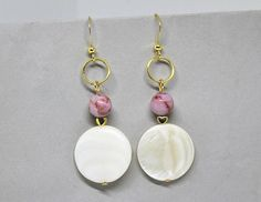 Check out this item in my Etsy shop https://www.etsy.com/listing/525164318/shell-earrings-white-boho-earrings