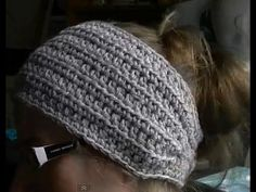 How to Crochet a Earwarmer / Headband - Part 1 of 2 - You can make a Preemie to Adult size - YouTube