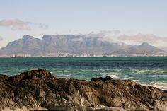 Table Mountain from Robben Island
