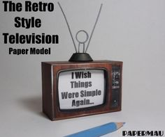 Papermau: Retro Style Television Paper Model - by Papermau -...