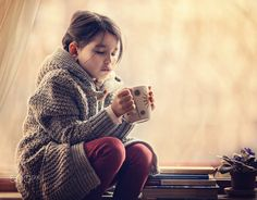 Cup of tea Tea Cups, Turtle Neck, Sweaters, Kids, Photography, Dresses, Fashion, Young Children, Vestidos
