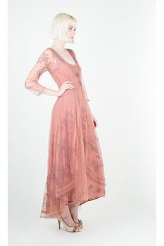 Pink alternative color for a wedding day  #wedding #pink #vintage  http://www.natayadresses.com/1351-thickbox/nataya-40163-downton-abbey-tea-party-gown.jpg