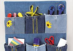 Fun Denim Organizer: Free Sewing Patterns and Projects | Make It Coats
