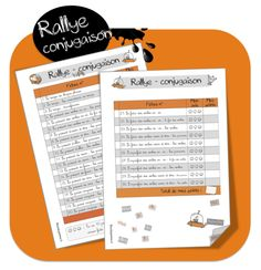 rallye conjugaison pour cm2 French Flashcards, School Organisation, French Verbs, Core French, French Classroom, French School, Montessori Activities, French Lessons, Teaching French