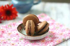 Chocolate Coffee Flavoured Macarons