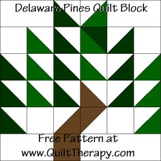 Countdown to Christmas Delaware Pines Quilt Block – Quilt Therapy Tree Quilt Pattern, Barn Quilt Patterns, Pattern Blocks, Quilt Block Patterns 12 Inch, House Quilts, Barn Quilts, Patch Quilt, Quilt Blocks, Barn Quilt Designs