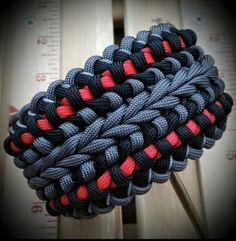 Wide Modified Sanctified Paracord Bracelet