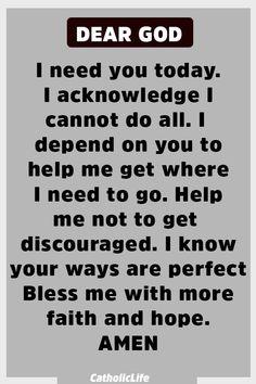 Powerful Prayer for Strength and God's Blessings. Prayer Scriptures, Bible Prayers, Faith Prayer, God Prayer, Power Of Prayer, Prayer Quotes, Bible Verses Quotes, Faith Quotes, Short Prayers