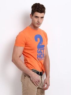 Being Human Men Orange Printed T-shirt | Myntra | INR 799 | Fashionable enough to work as Being Stylish
