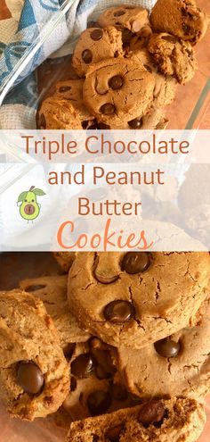 Triple Chocolate and Peanut Butter Cookies - Cooking Fatty Favourites Peanut Butter Jar, Natural Peanut Butter, Peanut Butter Cookies, Dairy Milk Chocolate, Melting Chocolate, Easy Meals For Kids, Kids Meals, Baby Food Recipes, Snack Recipes