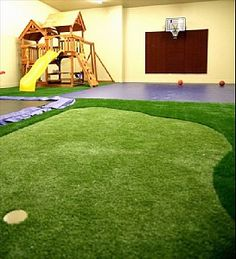 Play Area: indoor trampoline, indoor basketball...is this real?!