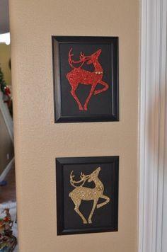 Dollar Store Crafts » Blog Archive Tutorial: Make Glitter Reindeer Art » Dollar Store Crafts