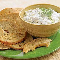 Have extra Panera bagels on hand? Make these irresistibly crunchy bagel chips with a refreshing cucumber dip on the side.