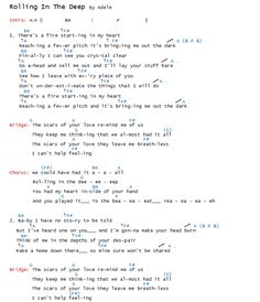 Adele - Rolling In The Deep Chords & Lyrics - Part 1