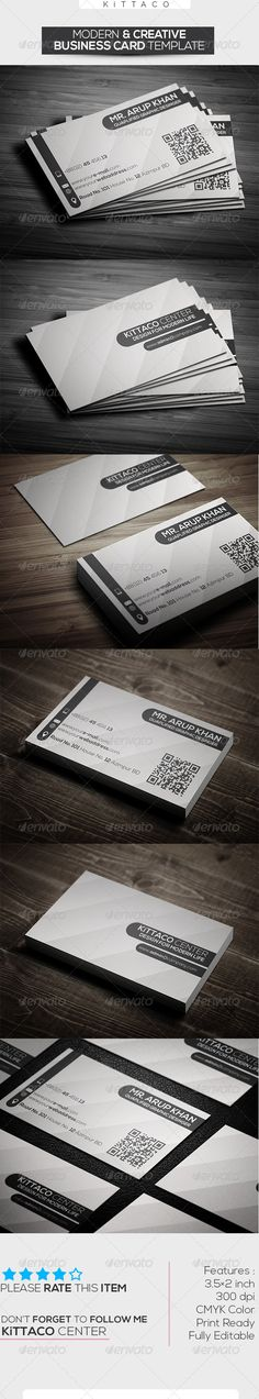 Modern Creative Business Card Template PSD Print Templates| Print Ready | Buy and Download: http://graphicriver.net/item/modern-creative-business-card-template/7326791?WT.ac=category_thumbWT.z_author=KiTTACOref=ksioks