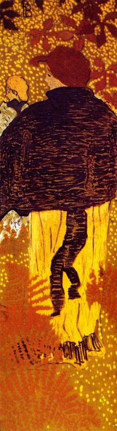 Pierre Bonnard - Femmes au jardin, Femme à la pèlerine