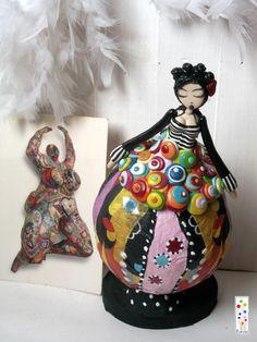 """Figurine Décorative Muse """" Niki """" en pâte polymère : Accessoires de maison par florilege"""