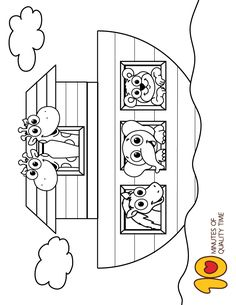 Sunday school coloring pages - Noah's Ark Coloring Page Sunday School Coloring Pages, Preschool Coloring Pages, Bible Coloring Pages, Stitch Coloring Pages, Creation Coloring Pages, Bible Activities For Kids, Bible Crafts For Kids, Bible Story Crafts, Bible School Crafts