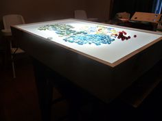 Our handmade daycare light table.