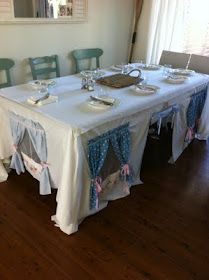 #DIY Tablecloth Play Tent Adorable. Creative. It Would Be Fun To Paint  Flowers In Pretend Window Boxes U0026 A Decorative Front Door, Paint A Wreath Eu2026