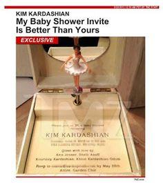 kim kardashians baby shower invite baby shower invitations party invitations invites party