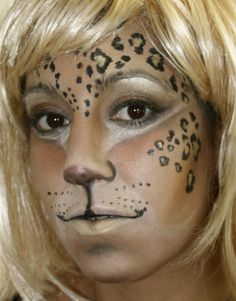 Leopard make up by Kate Bland